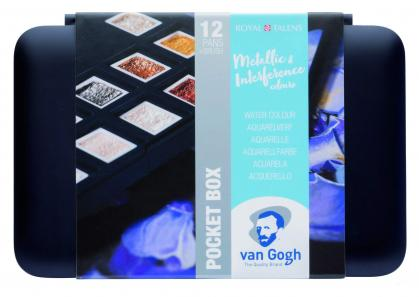 Royal Talens Aquarell - Pocket Box Metallic Edition Van Gogh