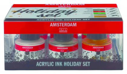 Amsterdam Acryltusche -Holiday Set -