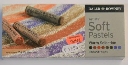 Daler- Rowney Artists weiche Pastellkreiden Warm Selection Pastelle 8 Stifte