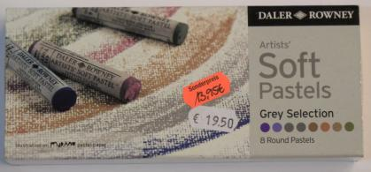 Daler- Rowney Artists weiche Pastellkreiden Grey Selection Pastelle 8 Stifte