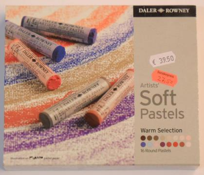 Daler- Rowney Artists weiche Pastellkreiden Warm Selection Pastelle 16 Stifte