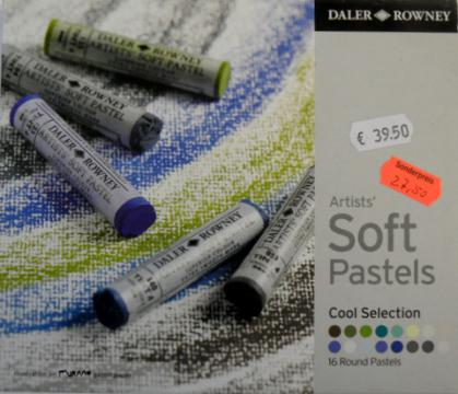 Daler Rowney Artists Soft Pastels Cool Selection 16 Stk