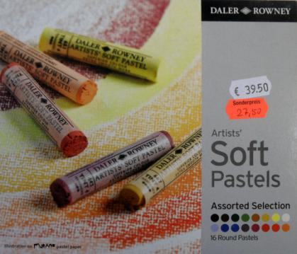 Daler Rowney Artists Soft Pastels Assorted Selection 16 Stk