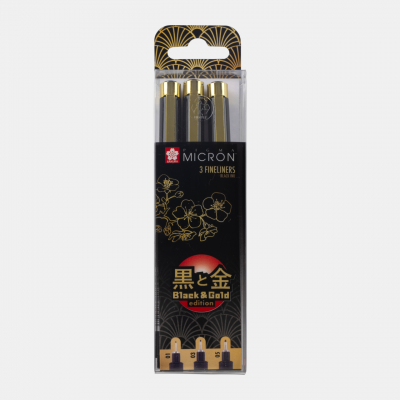 Sakura Pigma Micron Black & Gold Edition 3 Fineliner