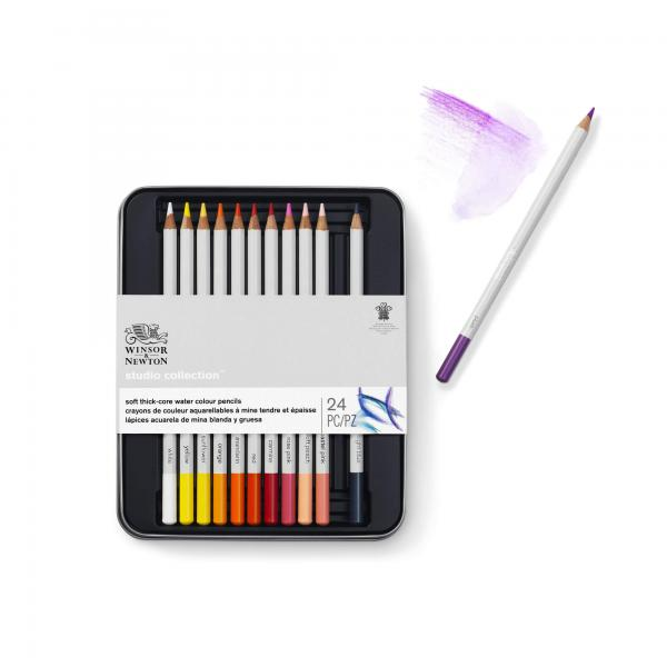 Winsor& Newton Studio Collection  24 Aquarellstifte