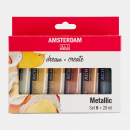Amsterdam All Acrylics 6x20ml Metallic